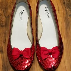 Custom REPETTO Ruby Slippers Shoes with Bows